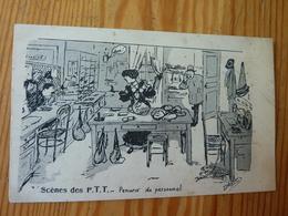 CPA Scènes Des PTT Pénurie De Personnel Illustrateur Signé Morer? Sans Date - Altre Illustrazioni