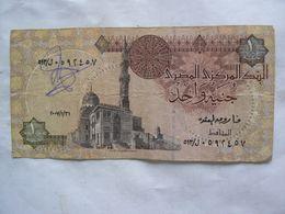 Egypte : Central Bank Of Egypt. Billet De One Pound, Avec Signature - Egypte