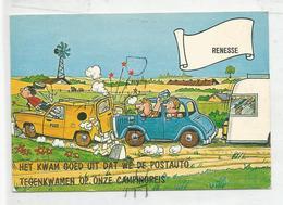 """Humour. Accident Avec Une Voiture De La Poste:"""" Het Kwam Goed Uit... (Ca Tombe Bien ..."""" - Poste & Facteurs"""