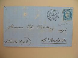 Cérès N° 60 Variété Sur Lettre De    Paris       Voir Scan - 1849-1850 Ceres
