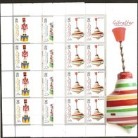 Gibraltar 2015 Micheln° 1686-1691 *** MNH Feuillets Complètes CEPT Europa Speelgoed Toys - Gibraltar