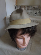 Ancien - Chapeau Femme Laine Feutrine Taille 55 - 4 Années 50 - Headdresses, Hats, Caps