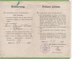 Polizei-Attest ERFURT 7/03/1924 - Allemagne