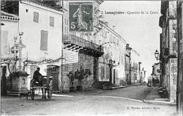 D82 - LAMAGISTERE - VUE ANIMEE DU QUARTIER DE LA CROIX + ATTELAGE - France