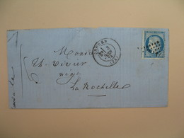 Cérès N° 60 Variété Sur Lettre De    Rouen       Voir Scan - 1849-1850 Ceres