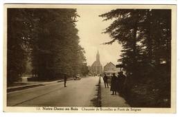 Notre-Dame-au-Bois - Chaussée De Bruxelles Et Forêt De Soignes - Circulée - Edit. Jacobs-Stouffs - 2 Scans - Overijse