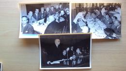 SICILIA 3 FOTO D'EPOCA 3 CONGRESSO NOTARIATO NOTAI A MONDELLO PALERMO 1952 MISURA CM. 18x13 - Foto