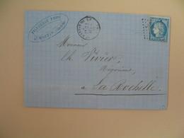 Cérès N° 60 Variété Sur Lettre De    St-Martin-de-Ré       Voir Scan - 1849-1850 Ceres