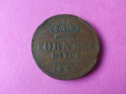 10 Tornesi 1857 - Monete Regionali