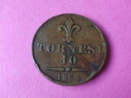 10 Tornesi 1859 - Monete Regionali
