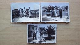 LAZIO OSTIA ROMA 3 FOTO D'EPOCA PICCOLE GRUPPO FAMILIARE 1933 - Foto