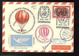 Balloon Flight UNO Freien Österreich (605) - Luxemburg