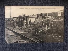 LUXEMBOURG  * 1914-1918 Attaques D'avions - Bombe Tombé Sur La Voie Du Chemin De Fer Zwickau 1917 - Ansichtskarten