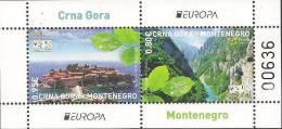 "MONTENEGRO / CRNA GORA   - EUROPA 2012 -TEMA ANUAL "" VISIT  CRNA GORA"".- HOJITA BLOQUE - DENTADA - 2012"