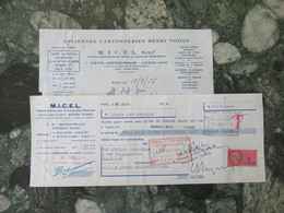 """Cachan Seine """"MICHEL """" Cartonnerie  Henri Voisin 1956 - Petits Métiers"""