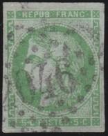 France  .   Yvert   .     42    Report  2 ?    (2 Scans)  .       O         .       Oblitéré - 1870 Emission De Bordeaux