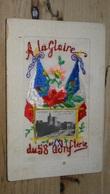 AVIGNON : 2 Cartes Soie Envoyé Par Un Soldat Du 58e D'infanterie .................... NJ-3835 - Avignon
