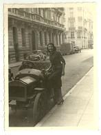 """5091 """" NIZZA 1955-SIGNORINA CON AUTO INIZIO '900-FURGONE CITROEN E VETTURE '50""""- FOTO ORIGINALE - Automobiles"""