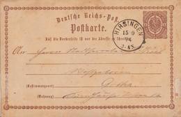 DR Ganzsache K1 Hirsingen 15.10.74 - Brieven En Documenten