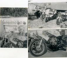 SPORT - LE MANS - Lot De 3 Photos De Motos: YAMAHA: Pilote Johnny CECOTTO  - Photos 9x13 - Motorcycle Sport
