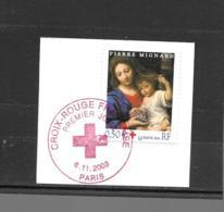 """3620  OBL Y & T La Vierge à La Grappe  """"Pierre Mignard""""  Cachet Paris  « Oblitération Premier Jour » 15B/60 - France"""