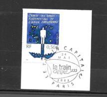 """3555  OBL Y & T Charte Des Droits Fondamentaux  """"Union Européenne""""   Cachet Paris  « Oblitération Premier Jour » 15B/59 - France"""