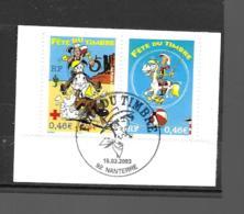 3546 3547  OBL Y & T Lucky Luke   Cachet Paris  « Oblitération Premier Jour » 15B/59 - France