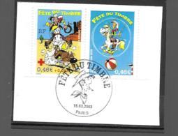3547  OBL Y & T Lucky Luke   Cachet Nanterre  « Oblitération Premier Jour » 15B/59 - France