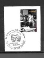"""3522  OBL    Y & T  Sur Les Bancs De L'école  """"Vie Quotidienne"""" Cachet Challon Sur Saône « Oblitération Premier Jour » - France"""