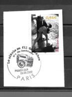 """3520  OBL    Y & T Enfant à La Fontaine  """"Vie Quotidienne""""  Cachet Paris « Oblitération Premier Jour »  15B/58 - France"""