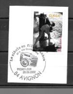 """3520  OBL    Y & T Enfant à La Fontaine  """"Vie Quotidienne""""  Cachet Avignon « Oblitération Premier Jour »  15B/58 - France"""