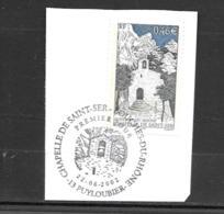 """3496  OBL    Y & T  """"Chapelle De Saint-Ser  Cachet Puyloubier « Oblitération Premier Jour »  15B/57 - France"""