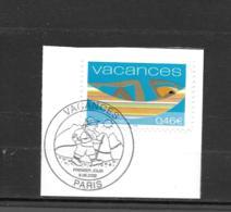 3494  OBL    Y & T   Vacances  Cachet Pars « Oblitération Premier Jour »  15B/57 - France
