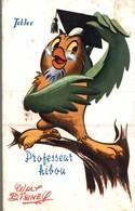 CARTE POSTALE PUBLICITAIRE CHOCOLATS TOBLER  WALT-DISNEY  PROFESSEUR HIBOU - Disney