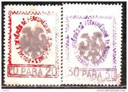 Albania  1913 Mino 25,26 - Albanien