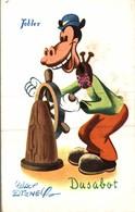 CARTE POSTALE PUBLICITAIRE CHOCOLATS TOBLER  WALT-DISNEY DUSABOT - Disney