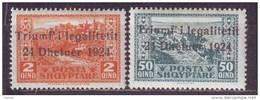 1925 - Albania - Mi. No. 112, 116, MLH* - Albanien