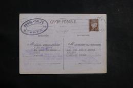 FRANCE - Entier Postal Type Pétain De Séte Pour Amiens En 1941 - L 41119 - Cartes Postales Types Et TSC (avant 1995)