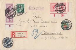 DR R-Brief Mif Minr.2x 379 UER,2x A379 UR,380,411,425 Berlin 11.2.29 - Deutschland