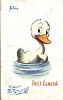 CARTE POSTALE PUBLICITAIRE CHOCOLATS TOBLER  WALT-DISNEY  PETIT CANARD - Disney