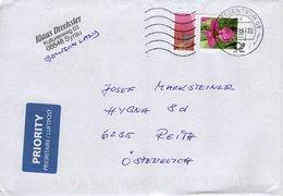 Auslands - Brief Von Briefzentrum 08 Mit 110 Cent Wild Gladiole Randstück 2019 - BRD