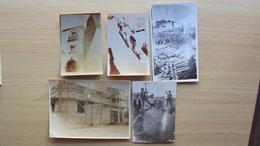 VENETO CITTADELLA PADOVA 5 FOTO ORIGINALE D'EPOCA FORMATO PICCOLO COSTRUZIONE RICOSTRUZIONE RESTAURO EDIFICI - Foto