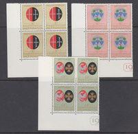 Liechtenstein 1971 Geistliche Patronatsherren 3v Bl Of 4 (corner)** Mnh(44366) - Ongebruikt