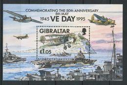 Gibraltar 1995 Bloc N° 20 ** Neufs MNH Superbes C 6 € Avions Planes Biplan Bateau Navires De Guerre Transports - Gibraltar