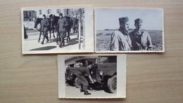 ITALIA 3 FOTO ORIGINALE D'EPOCA FORMATO PICCOLO MILITARI DEL REGIO ESERCITO ED AERONAUTICA UNO UFFICIALE GENERALE - Altri