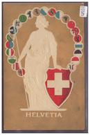 HELVETIE ET LES CANTONS SUISSES - PRÄGE KARTE - CARTE EN RELIEF - TB - Svizzera