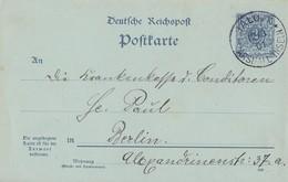 DR Postkarte Vorläufer Jaluit 12.3.01 Marshall Inseln Gel. Nach Berlin - Colonie: Marshall