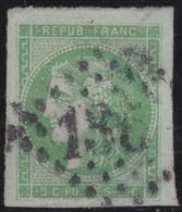 France  .   Yvert   .     42    Report  2 ?    (2 Scans)  .       O         .       Oblitéré - 1870 Bordeaux Printing