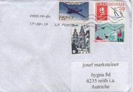 Auslands - Brief Von 49000 Angers 09831A Mit 6,60 Schöner Mischfrankatur Franc 2019 - 2018-... Marianne L'Engagée