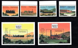 Trein, Train, Locomotive, Eisenbahn Grenada Grenadinas 2000 Mi Nr  3255 - 3258 + Blok 485 + 482 - Treinen